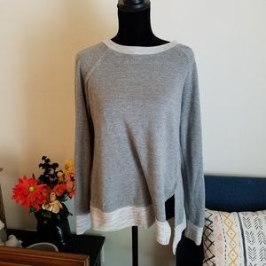 Grey high low sweater